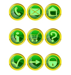 Set of 9 website icons vector image vector image
