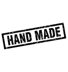 Square grunge black hand made stamp vector