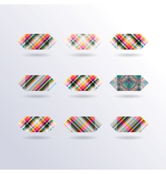 Striped Squares vector image
