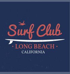surf club concept vector image vector image