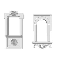 Two window openings vector