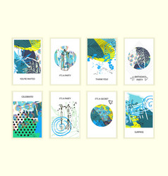 Universal abstract posters set vector
