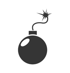 Bomb explosive dangerous icon graphic vector