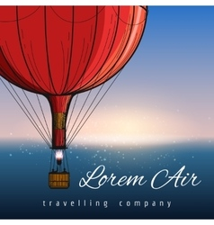 Hot air balloons travelling company poster vector