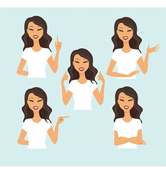 Young woman gesturing vector image