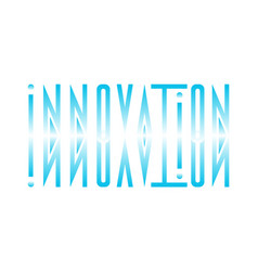 Abstract logo from the word innovation in a vector