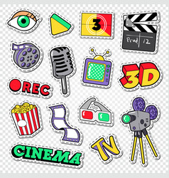 Cinema and movie doodle film entertainment vector