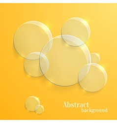 Abstract Background with Glass Glossy Circles vector image