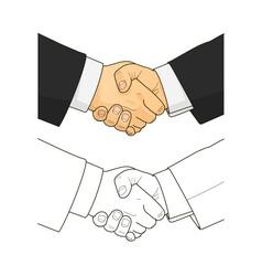 Male handshake vector image
