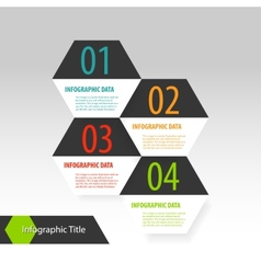 Hexagon modern infographics options banner vector