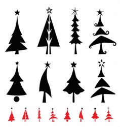Christmas pine tree vector