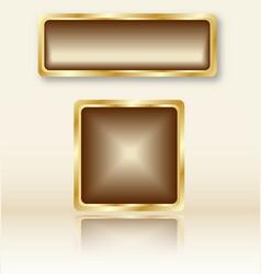 goldenbuttons vector image