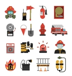 Fire icon flat vector