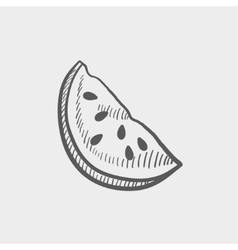 Watermelon sketch icon vector