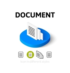 Document icon in different style vector