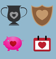 Love icon set vector