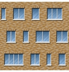 Brick facade pattern 2 color vector