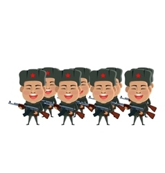 Army soldiers silhouette vector