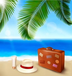 Summer beach tourism vector