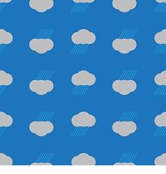 Seamless pattern rain cloud vector image