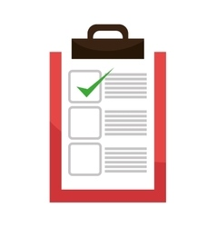 Checklist or document icon with approval sign vector