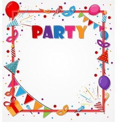 Birthday celebration background with party icons vector