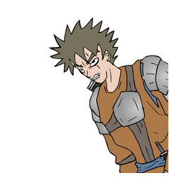 agressive warrior vector image vector image