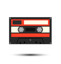 audiocassette vector image vector image