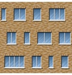 Brick facade pattern 2 color vector