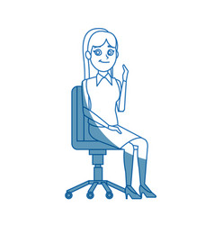 business woman sitting office chair people vector image vector image