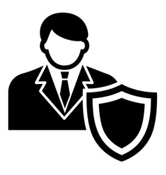 businessman protection icon simple black style vector image