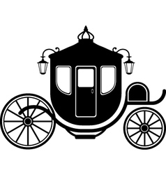 carriage silhouettte vector image vector image