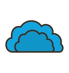 Cartoon blue cloud data communication vector