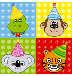 cartoon party animal vector image vector image