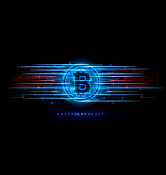 cryptocurrency concept technology vector image