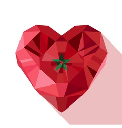 Crystal gem moroccan heart with the flag of the vector