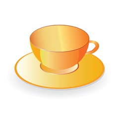 Cup for coffee in orange color vector
