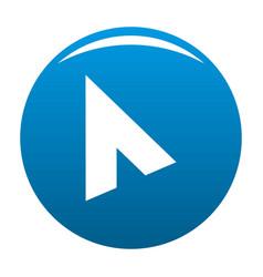 cursor modern element icon blue vector image vector image