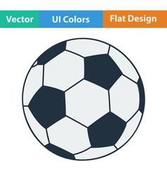 Flat design icon of football ball vector image