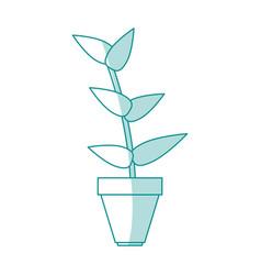 Flat line plant design vector