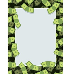 Frame out of money Many dollars flying Space for vector image vector image