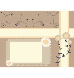 garden background vector image vector image