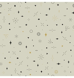 Geometric seamless pattern Gold gray and beige vector image vector image