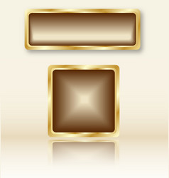 goldenbuttons vector image vector image