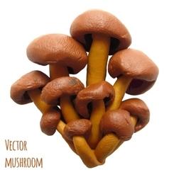 Icon of plasticine mushroom vector image vector image