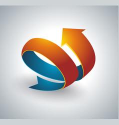 Icon pointer spiral arrow 3d vector