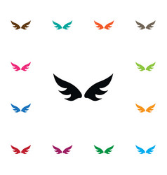 Isolated angel icon insignia element can vector
