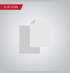 isolated blank flat icon sheets element vector image