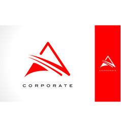 letter a monogram logo design vector image vector image