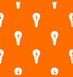 light bulb with lightning inside pattern seamless vector image vector image